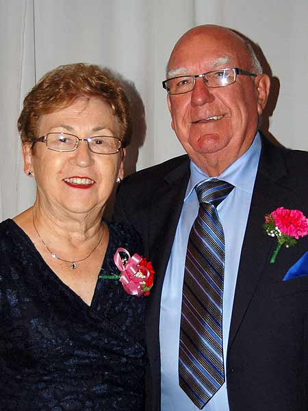 Volunteer Geraldine Lynn and hubby Bernie as special guests at the 35th Anniversary Gala